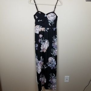 Band of Gypsies Black Floral sleeveless Maxi Dress